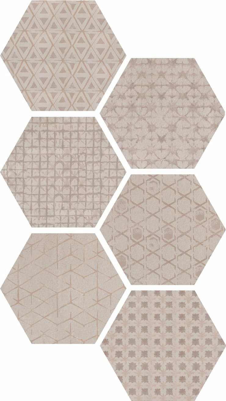 Hexagonal Floor Tiles Modern walls & floors by Tileflair Modern