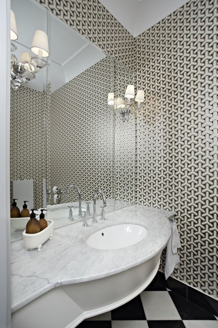 Dom w Wilanowie: styl , w kategorii Łazienka zaprojektowany przez BBHome Design