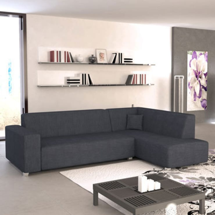 Sofa rinconera modelo Coli Gris derecha: Comedor de estilo  de Domensino