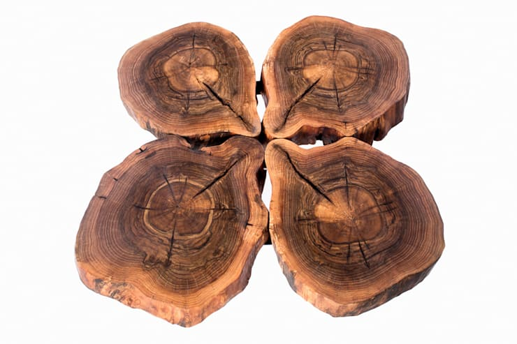 Stolik kawowy z drewna orzecha włoskiego. Onetree 7.: styl , w kategorii Salon zaprojektowany przez Onetree
