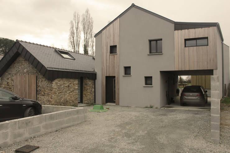 Façade  Nord: Maisons de style de style Moderne par Fabrick d'Architecture Nantaise