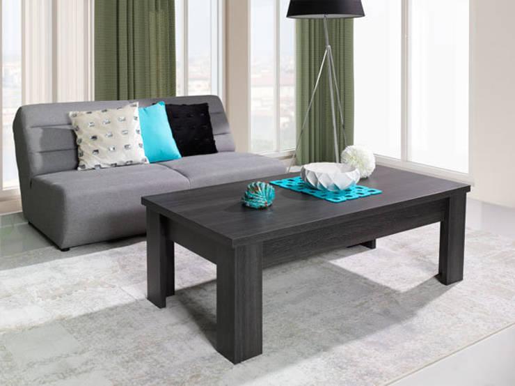 Mesa de salon Soria 135x55x45cm en color madera haya oscuro: Comedor de estilo  de Domensino