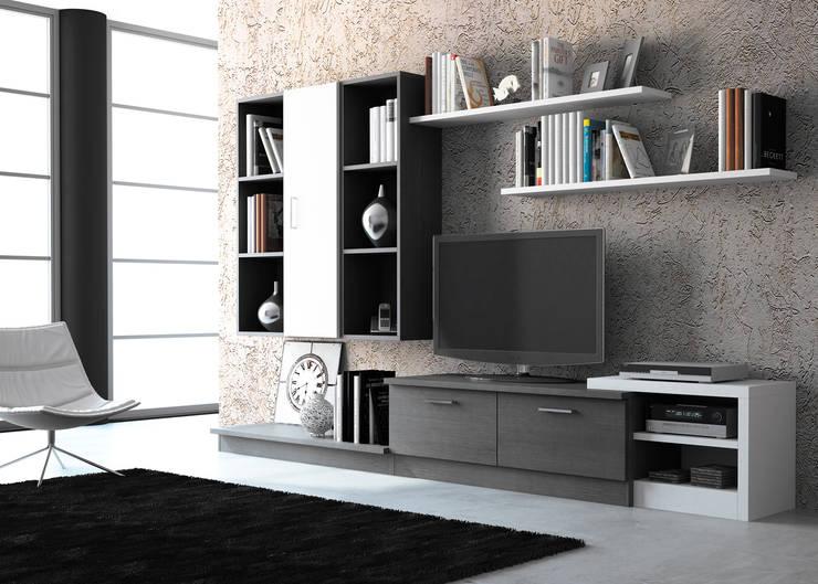 Composición Jandula 01 : Salones de estilo moderno de Muebles 1 Click