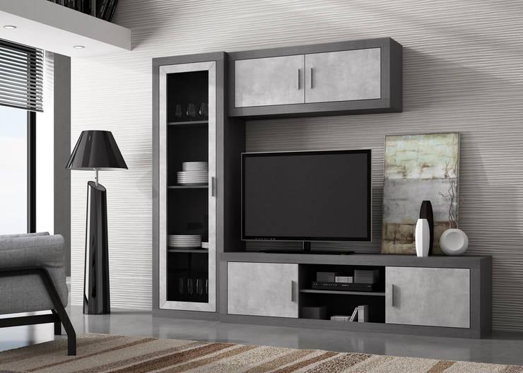 Composición zora 01: Salones de estilo moderno de Muebles 1 Click