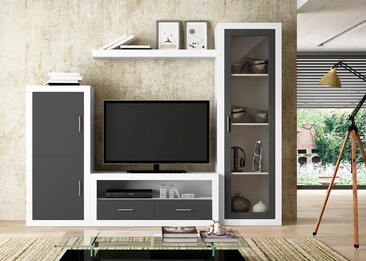 Composición Zora 04: Salones de estilo moderno de Muebles 1 Click
