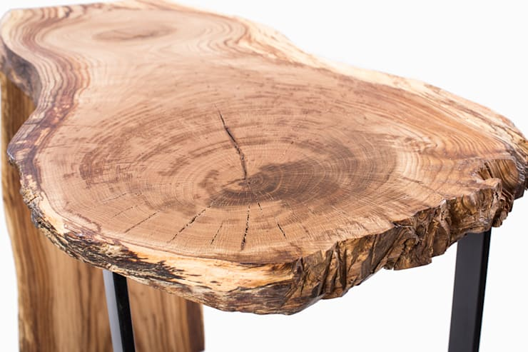 Konsola z drewna dębu. Onetree 17.: styl , w kategorii Jadalnia zaprojektowany przez Onetree