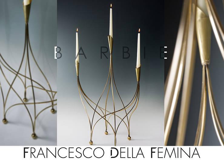 Barbie sculpture/candelabra: Soggiorno in stile  di Francesco Della Femina