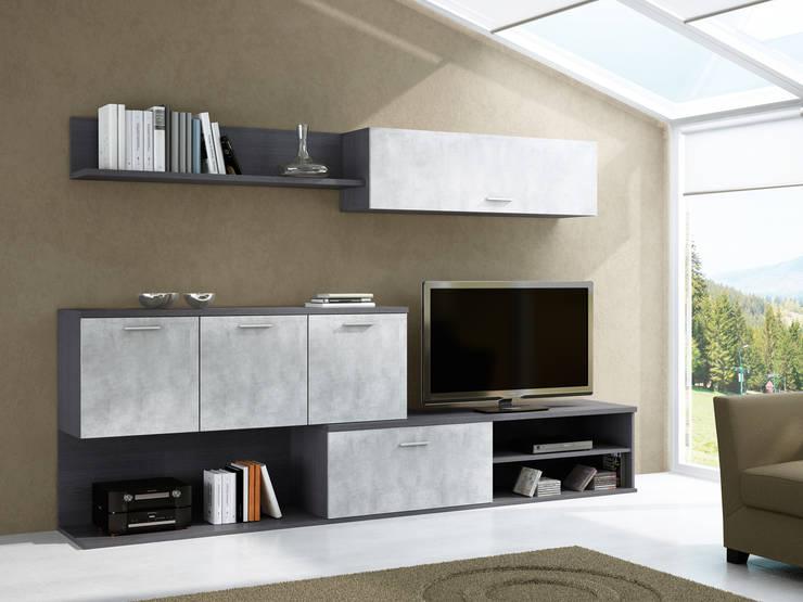 Composición unica 103: Salones de estilo moderno de Muebles 1 Click