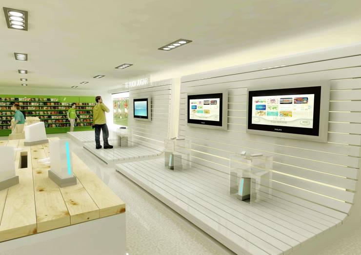 Dows nice digital stores: Espacios comerciales de estilo  de AG INTERIORISMO
