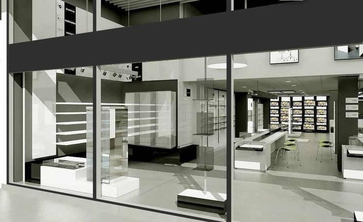Concepto Querol Club de la Oficina, Tortosa: Espacios comerciales de estilo  de AG INTERIORISMO