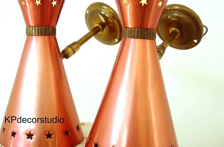 Pareja de apliques Mid Century Ref. L103: Comedor de estilo  de KP Decor Studio. Tienda vintage online