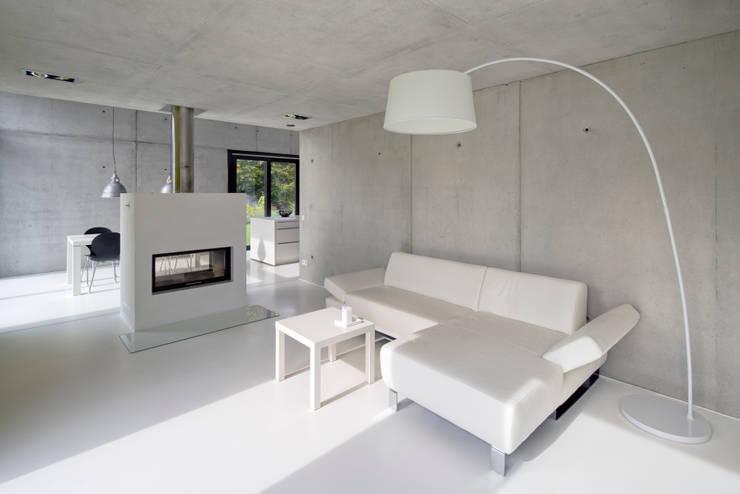 Einfamilienhaus KN08 auf dem Schurwald: moderne Wohnzimmer von Schiller Architektur BDA