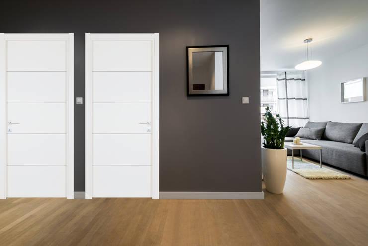 Modèle B finition Blanc Lisse: Fenêtres & Portes de style  par GAÏALYS