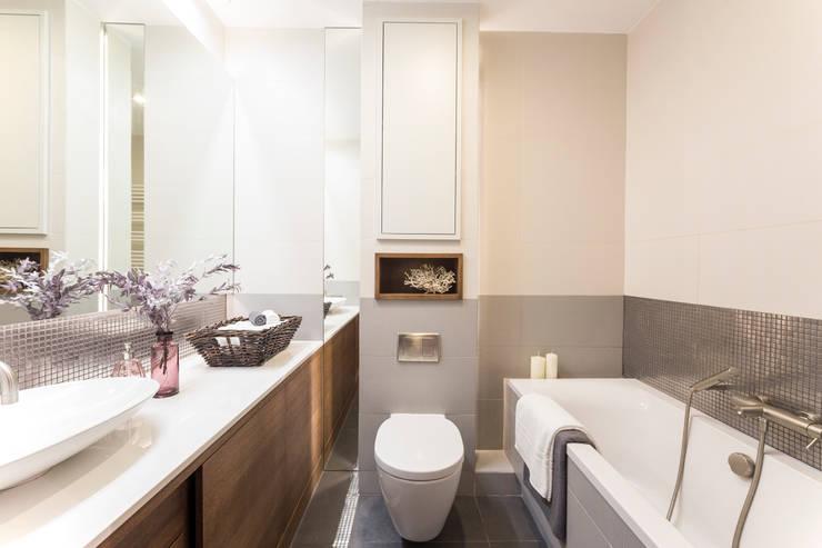 Mieszkanie - Warszawa - 45 m2: styl , w kategorii Łazienka zaprojektowany przez Mprojekt