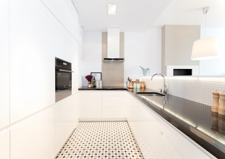 Mieszkanie - Warszawa - 85 m2: styl , w kategorii Kuchnia zaprojektowany przez Mprojekt