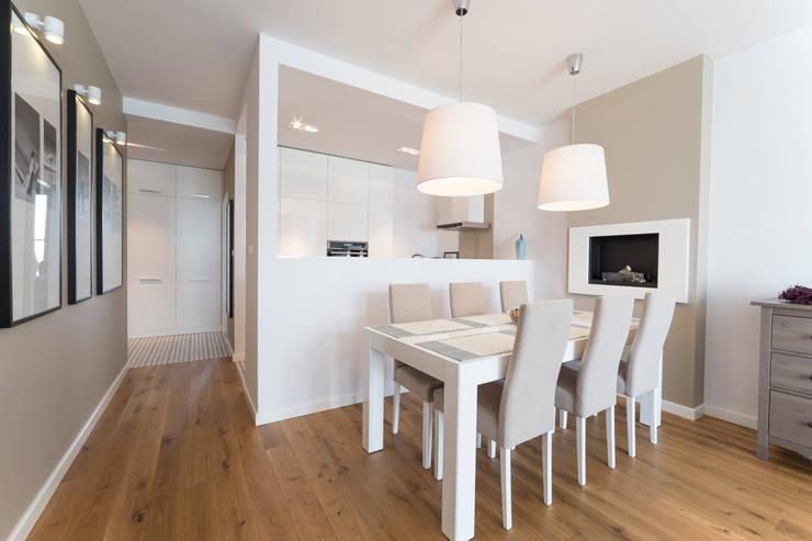 Mieszkanie – Warszawa – 85 m2: styl , w kategorii Jadalnia zaprojektowany przez Mprojekt