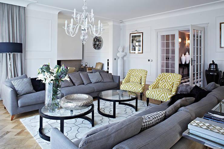 Dom w Wilanowie: styl , w kategorii Salon zaprojektowany przez BBHome Design