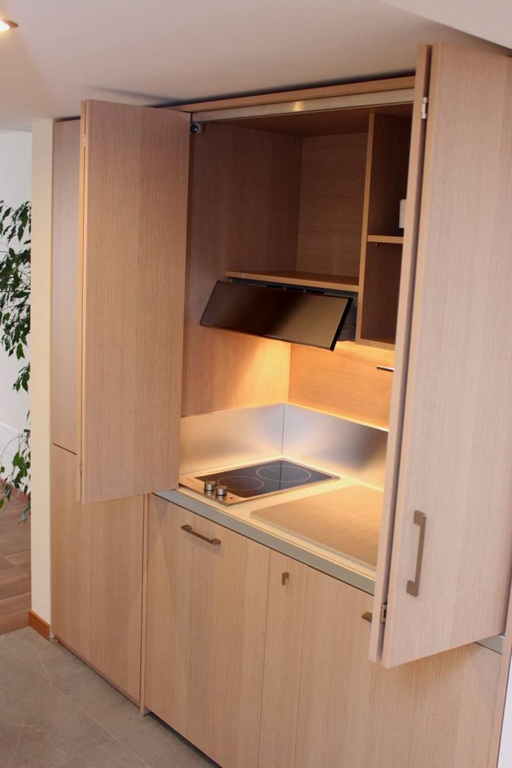 Cucina a scomparsa da cm.205 con ante a libro – taverna von ...