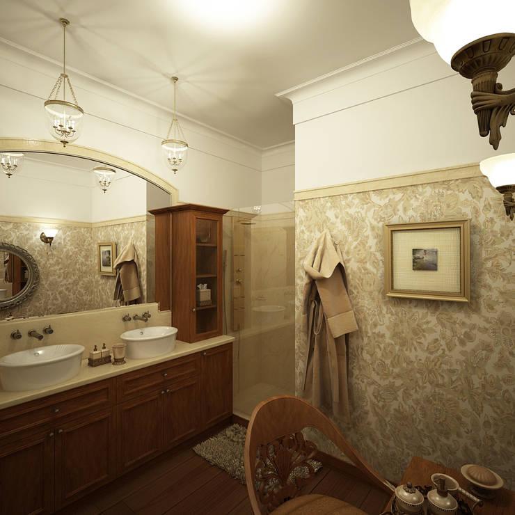 Американское влияние: Ванные комнаты в . Автор – Format A5 Fontanka, Эклектичный