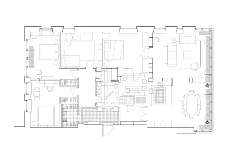 План квартиры:  в . Автор – Format A5 Fontanka, Эклектичный
