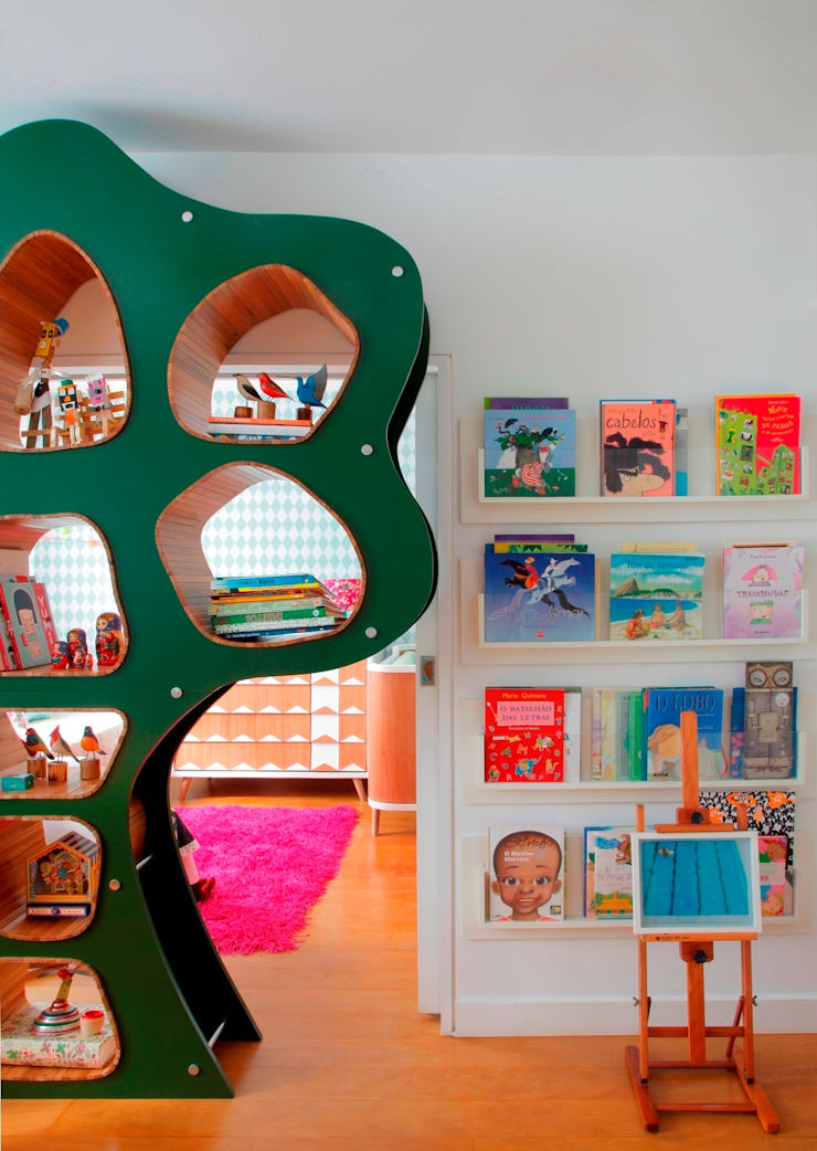 Quarto Violeta: Quarto infantil  por Oba! Arquitetura