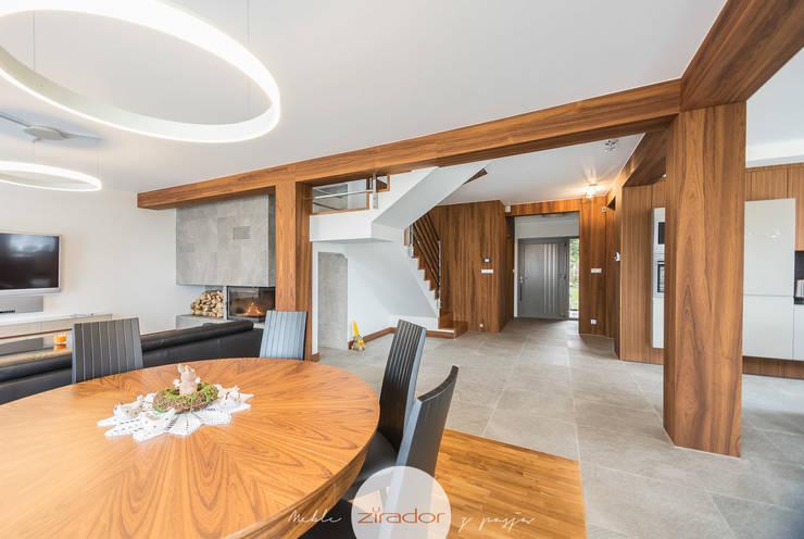Meble do domu jednorodzinnego pod Krakowem: styl , w kategorii Salon zaprojektowany przez Zirador - Meble tworzone z pasją