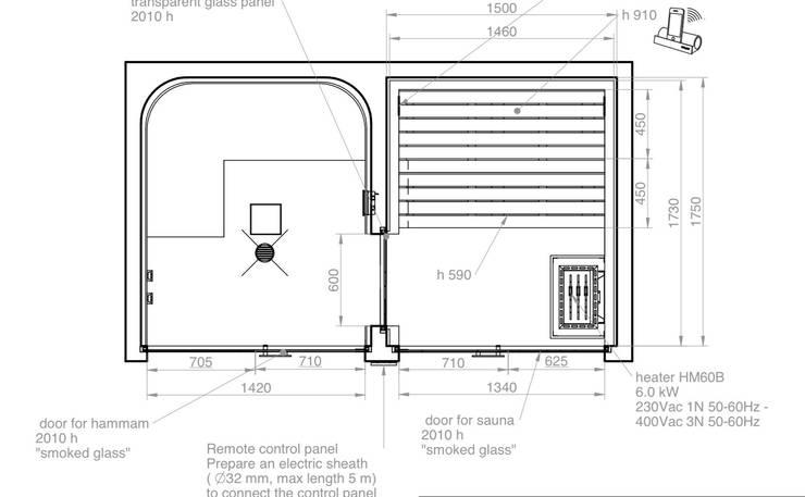 modern Spa by Steam and Sauna Innovation