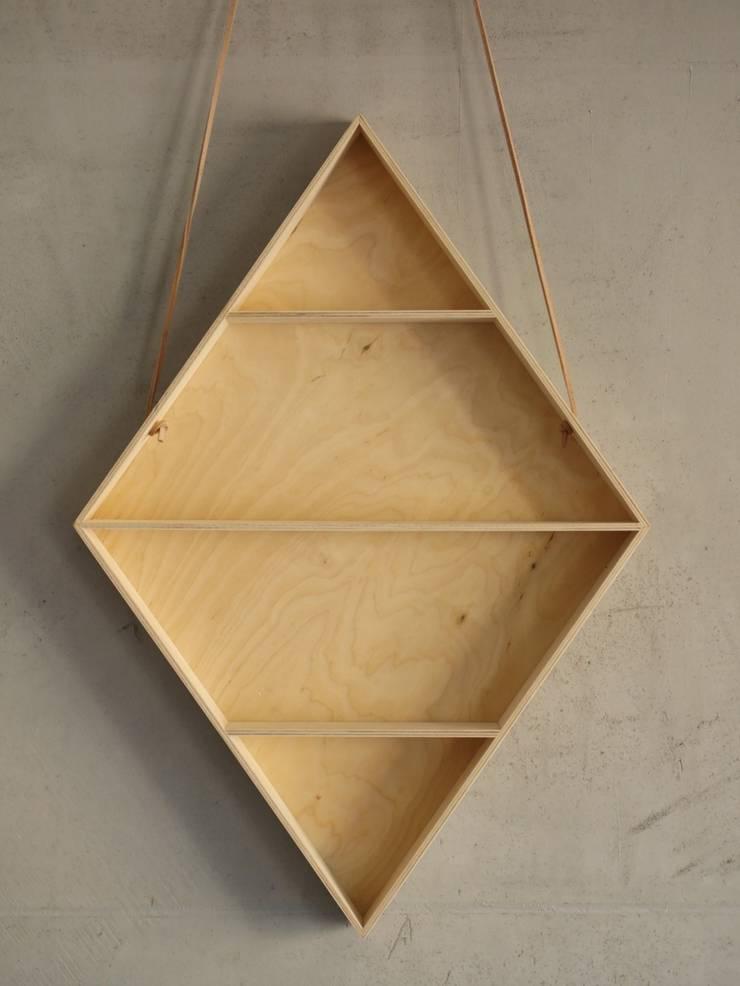 Półka romb: styl , w kategorii Salon zaprojektowany przez BELMAM
