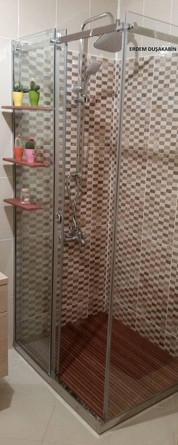 Erdem Duşakabin Tasarım Atölyesi – sürgülü sistem cam duşakabin:  tarz