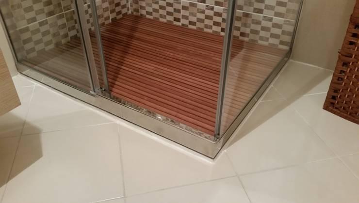Erdem Duşakabin Tasarım Atölyesi – Paslanmaz çelik duş tablası:  tarz