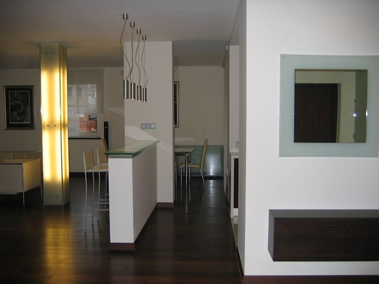 mieszkanie 02: styl , w kategorii Salon zaprojektowany przez ARTEFEKT,