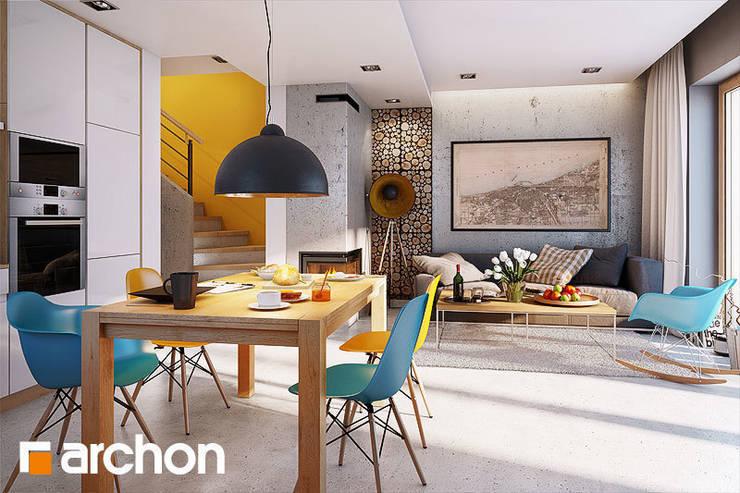 Dom pod miłorzębem 6(GB) - projekt autorstwa ARCHON+ Biuro Projektów: styl , w kategorii Jadalnia zaprojektowany przez ArchonHome.pl