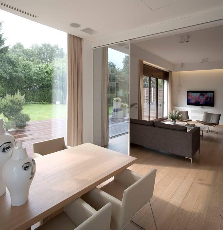 Apartament  na Mokotowie 2: styl , w kategorii  zaprojektowany przez Exit Pracownia Projektowa