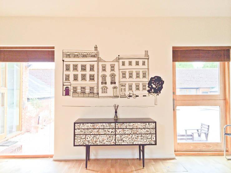 Projekty,  Ściany i podłogi zaprojektowane przez Vinyl Impression