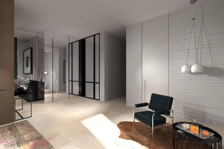 SALON: styl , w kategorii Salon zaprojektowany przez Exit Pracownia Projektowa