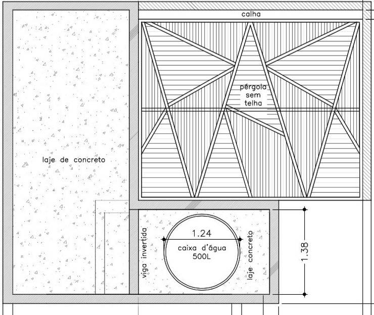 Projeto da Pérgola :   por Raquel Pelosi Arquitetura e Design Visual