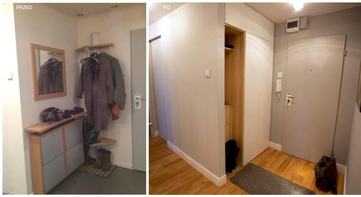METAMORFOZA 48 m²: styl , w kategorii  zaprojektowany przez WNĘTRZNOŚCI Projektowanie wnętrz i mebli
