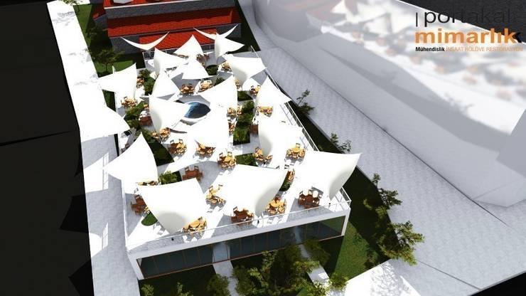 Casas de estilo  por PORTAKAL MİMARLIK MÜHENDİSLİK İNŞAAT RÖLÖVE VE RESTORASYON