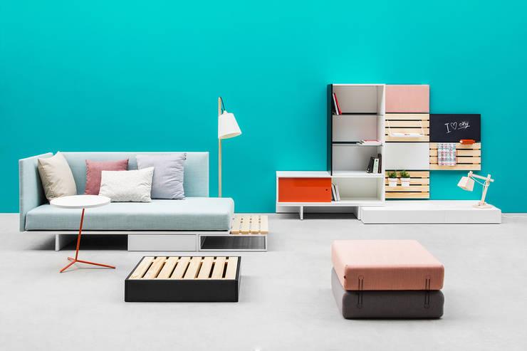 EASY, projekt Wierszyłłowski i Projektanci, 2014: styl , w kategorii Salon zaprojektowany przez NOTI
