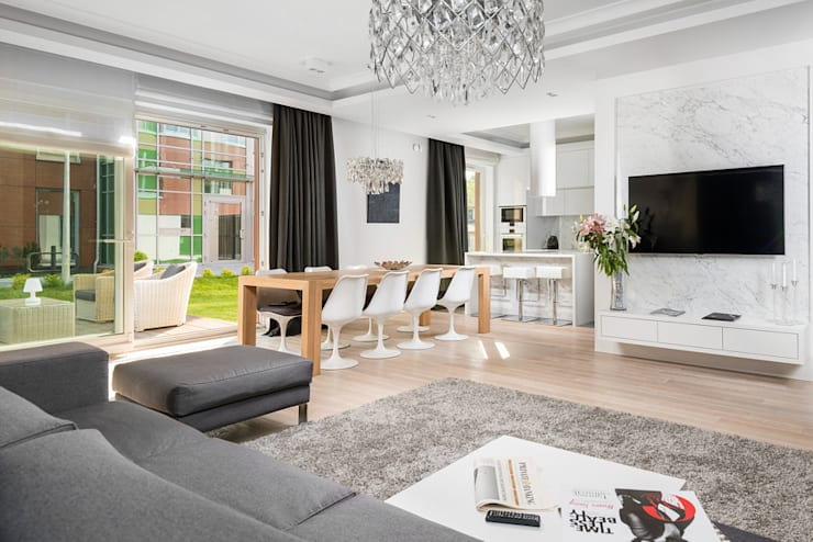 Salon w apartamencie Hill Park: styl , w kategorii Salon zaprojektowany przez T3 Studio