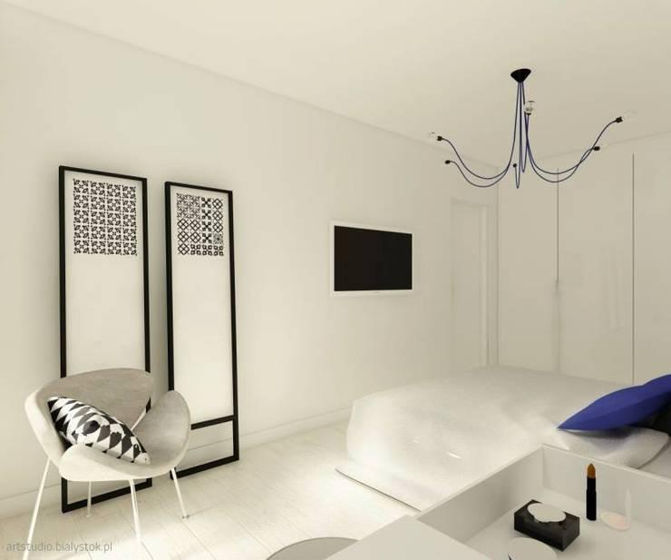 Fluffo Triada w projekcie by Art Studio Pracownia Architektury. : styl , w kategorii Sypialnia zaprojektowany przez FLUFFO fabryka miękkich ścian