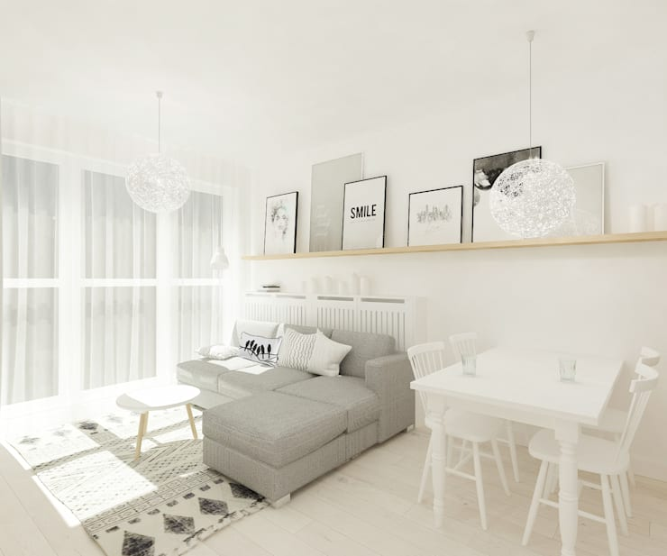 scandinavian Living room by 4ma projekt