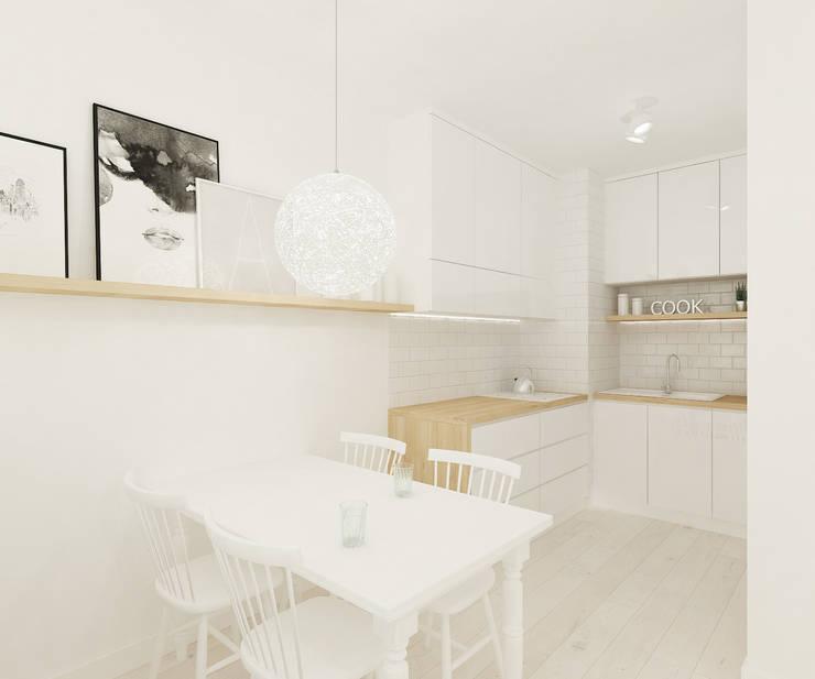 Skandynawskie biele i szarości.: styl , w kategorii Kuchnia zaprojektowany przez 4ma projekt