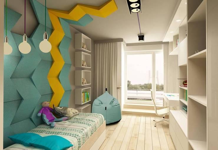 CHEVRON w projekcie Design me too - architektura wnętrz: styl , w kategorii  zaprojektowany przez FLUFFO fabryka miękkich ścian
