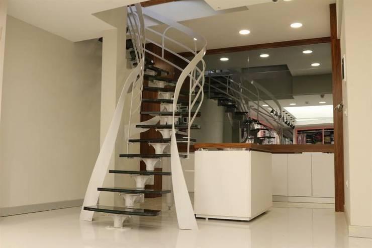 Visal Merdiven – NJW London/2 - İstanbul :  tarz Koridor, Hol & Merdivenler