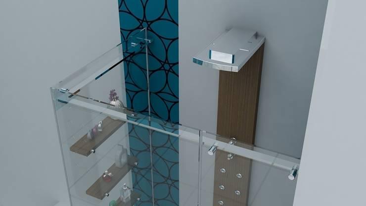 Erdem Duşakabin Tasarım Atölyesi – Teknesiz cam duşakabin uygulaması: modern tarz , Modern