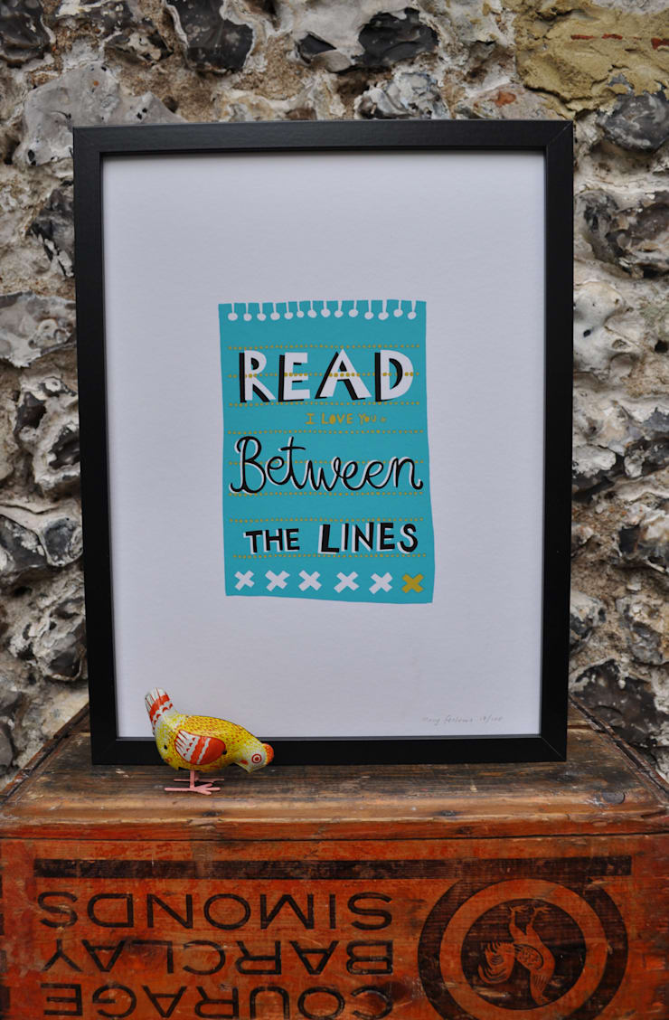 Read between the Lines Print:  Artwork by Mary Fellows