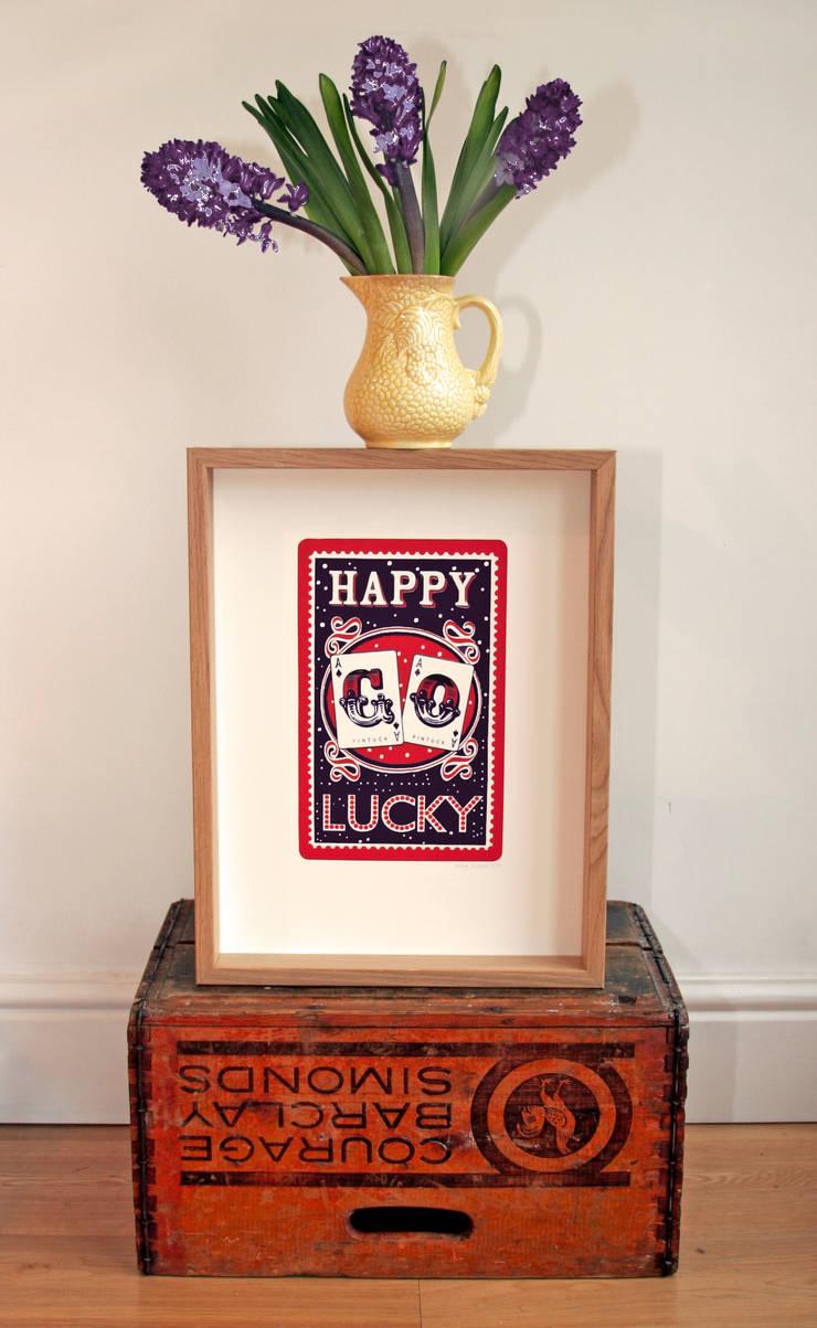 Happy Go Lucky Print:  Artwork by Mary Fellows