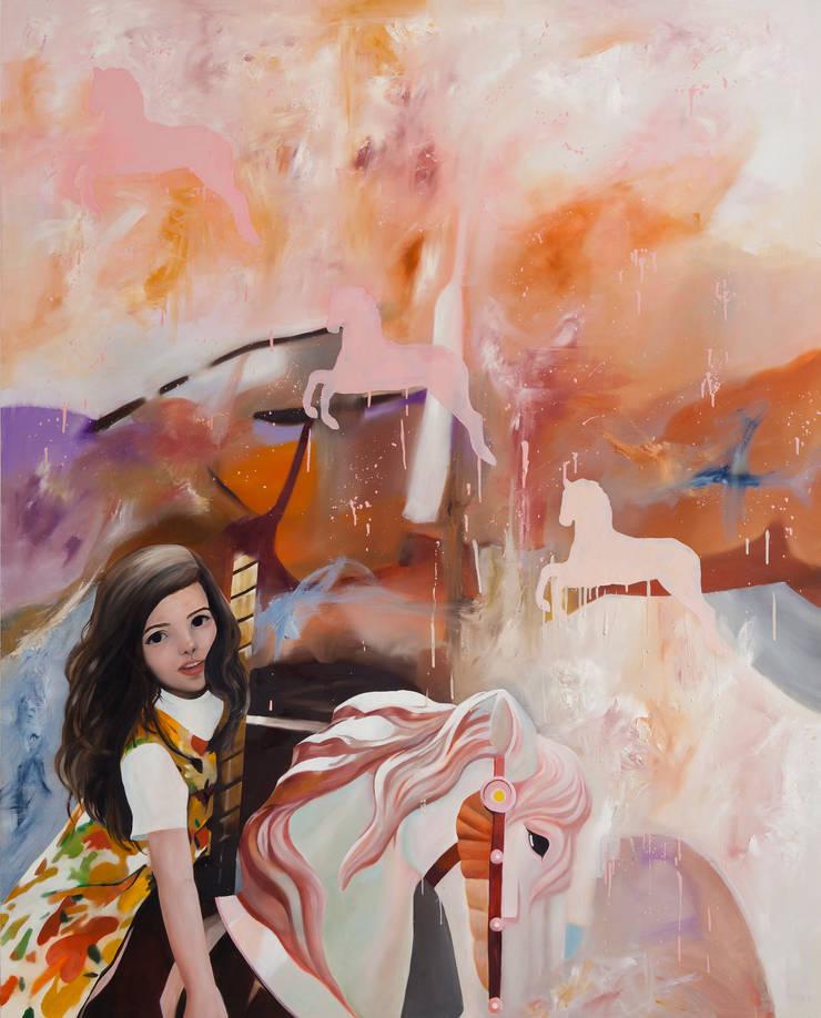 Carnival2 , Oil on canvas, 162.2x 130.3cm , 2012: Woojung Son의 현대 ,모던