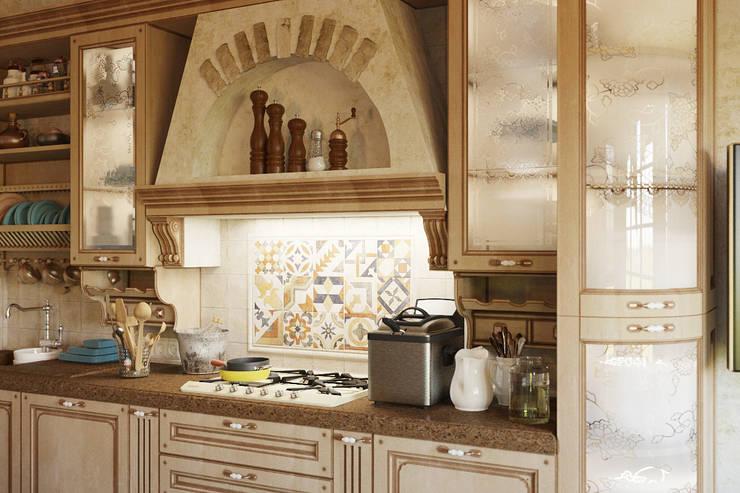 Традиционный интерьер для кухни столовой: Кухни в . Автор – Студия дизайна Interior Design IDEAS